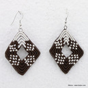 boucles d'oreille 0313079 marron