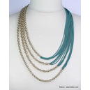 collier 0114023 bleu turquoise